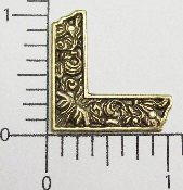 "(Package Of 12) 1"" Victorian Corner (BRASS OX)"