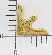 "(Package Of 12) 3/4"" Contempory Corner (BRASS OX)"