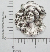 (Package Of 12) Victorian Woman in Hat (Matte Silver Ox)