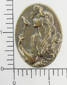 (Package Of 12) Woman In Oval W/ Calla Lilly (Brass Ox)