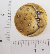 (Package of 12) Lg Round Moon & Stars NR (Brass Ox)