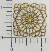 "(Package Of 12) 1-1/4"" Square Lacey Filigree (Brass Ox)"