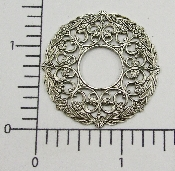 (Pkg. Of 12) Open Circle Filigree (Matte Silver Ox.)
