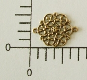 (Pkg. Of 12) Filigree Connector (Brass Ox.)