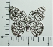 (Pkg. Of 12) Large Butterfly NR (Matte Silver Ox.)