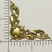 "(Package Of 12) 1-3/4"" Victorian Floral Corner (BRASS OX)"