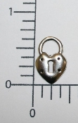 (Package of 12) Heart Shape Lock (Matte Silver Ox)