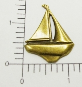 "(Package Of 12) 1-1/2"" Sailboat NR (Brass Ox)"