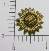 (Package of 12) Sunflower Charm (Brass Ox)