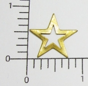 (Package of 12) Open Star NR (Brass Ox)