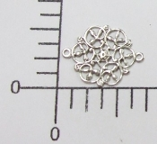 (Pkg. Of 12) Filigree Connector (Matte Silver Ox.)