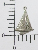 "(Package Of 12) 3/4"" Sailboat Charm (Matte Silver Ox)"
