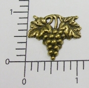 (Package Of 12) Sm. Grape Cluster (Brass Ox)