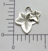 (Package Of 12) Ivy Leaves (Matte Silver)