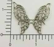 "(Package Of 12) 1-1/2"" Filigree Butterfly NR (Matte Silver)"