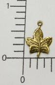 (Package of 12) Sm. Maple Leaf Charm (Brass Ox)