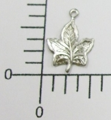 (Package of 12) Sm. Maple Leaf Charm (Matte Silver)