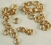 (OZ) OVAL JUMP RINGS (APPX. 550/OZ) (Antique Gold)