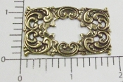 "(Package Of 12) 1-7/8"" x 1-1/8"" Filigree Open Frame (Brass Ox)"