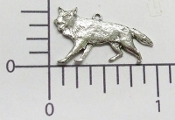 Coyote Charm - Matte Silver Ox (pkg of 12)