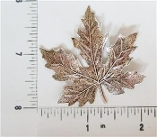 Maple Leaf Large Brass Finding, Matte Silver Ox (pkg of 12)
