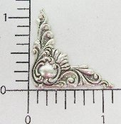 (Package Of 12) 1-1/8 Victorian Corner (MATTE SILVER OX)