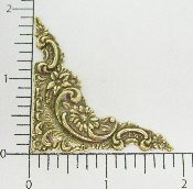 "23623 - 12 Pc 1-7/8"" Victorian Corner BRASS OX"