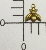 "Tiny 1/4"" Bee w/Ring Brass Ox (Package Of 12)"