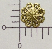 "1/2"" Round Filigree Brass Ox (Package Of 12)"