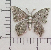 "(Package Of 12) 1-1/2"" Butterfly (Matte Silver Ox)"