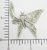 "(Package Of 12) 1-1/2"" Butterfly w/Folded Wing (Matte Silver"