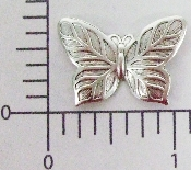 "(Package Of 12) 1"" Butterfly - N/R (Matte Silver Ox)"