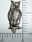 1 Pc Large Owl Brass Jewelry Finding Stamping Silver Ox
