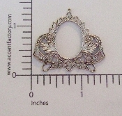 12 Pc Victorian Filigree Setting Charm Matte Silver Ox