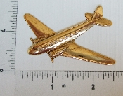 (Package Of 12) Large Airplane  (Brass Ox)