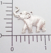 (Package Of 12) Elephant Charm (Matte Silver Ox)