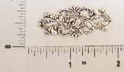 (Package Of 12) Open Filigree W/ Texture & Dot (Matte Silver