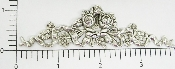 Victorian Flowing Bow Flowers Silver Ox (Package Of 12)