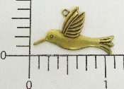 12 Pc Hummingbird Charm Brass Ox