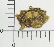 (Package Of 12) Bird's Nest Charm (Brass Ox)