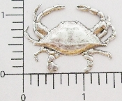 12 Pc Large Crab - N/R SILVER Ox