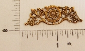 (Package Of 12) Floral Victorian Filigree (Brass Ox)