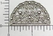 (Package Of 12) Fan Shaped Victorian Filigree (Matte Silver