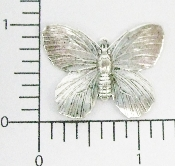 "(Package Of 12) 1-1/4"" Butterfly N/R (Matte Silver Ox)"