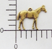 40083 - 12 Pc Sm Standing Horse Charm Fac R Brass Ox