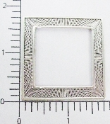 (Package Of 12) Simple Square Frame W/ Lines (Matte Silver O