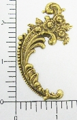 12 Pc Victorian Floral Scroll BRASS Ox