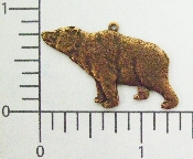 (Package Of 12) Lg. Bear Charm (Solid) (Copper Ox)