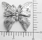 "(Package Of 12) 1-1/2"" Flat Butterfly - N/R (Matte Silver Ox"
