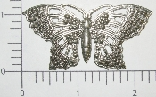 "(Package Of 12) 2-1/2"" Closed Filigree Butterfly (Matte Silv"